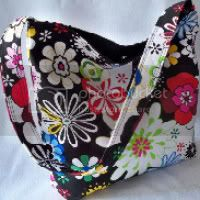 Groovy flowers Slouch Bag