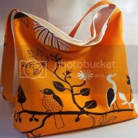 Orange GUNILLA Slouch Bag ikea fabric