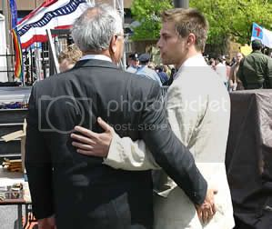 Barney Frank in a tender moment Pictures, Images and Photos